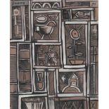 JOSE GURVICH - Constructivo - Gouache and watercolor drawing on paper