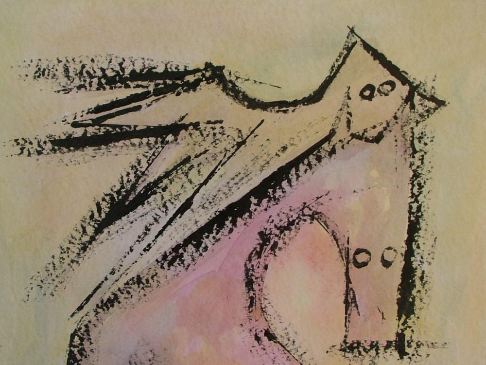 WIFREDO LAM - El Par - Gouache on paper - Image 3 of 6