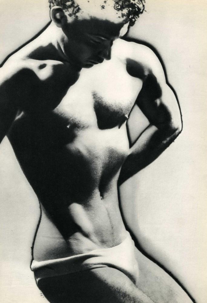 MAN RAY - Male Posing - Original vintage photogravure