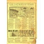 JOSE GUADALUPE POSADA - Los Fatales Sucesos en la Penitenciaria y Plaza de Toros - Relief engraving