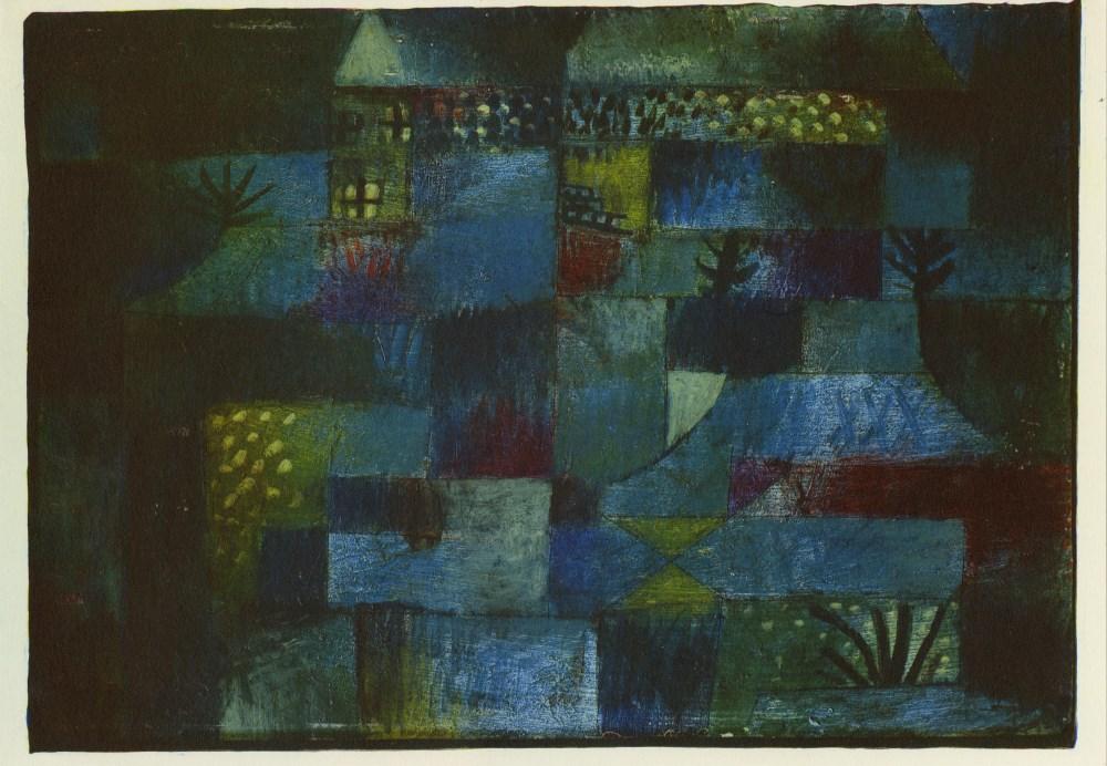"PAUL KLEE - Terraced Garden [""Jardin en terrasses""] - Original color collotype"