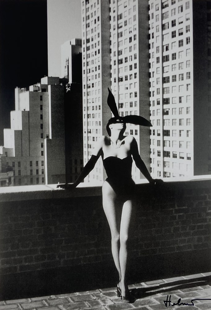 HELMUT NEWTON - Elsa Peretti As a Bunny, New York #1 - Original photolithograph