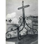 CLARENCE JOHN LAUGHLIN - Cross on Curlicues - Original vintage photogravure
