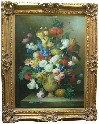 THOMAS A. LEE - Floral Still Life - Oil on canvas