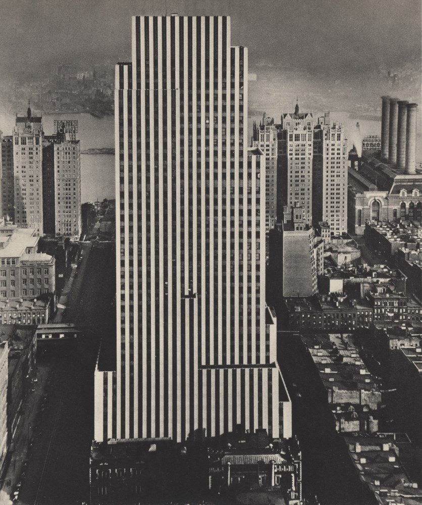 BERENICE ABBOTT - Daily News Building, New York City - Original vintage photogravure
