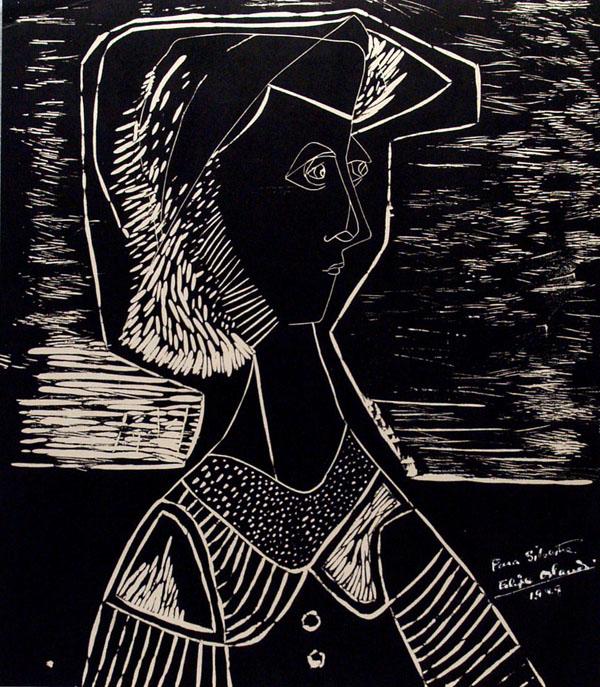 FELIPE ORLANDO - Portrait - Original lithograph