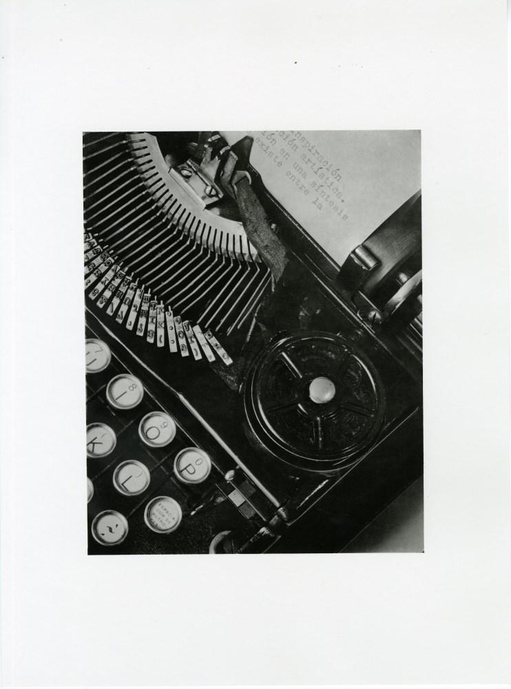 TINA MODOTTI - The Typewriter of Julio Antonio Mella - Original photogravure