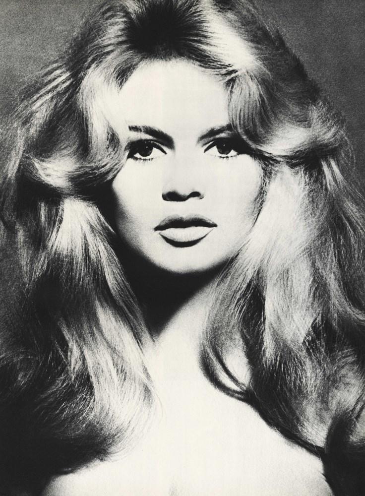 RICHARD AVEDON - Brigitte Bardot, Hair by Alexandre, Paris Studio, Paris, France, January 27 [195...