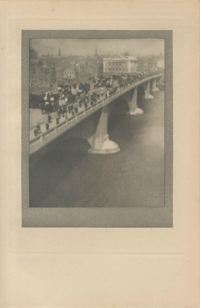 ALVIN LANGDON COBURN - London Bridge - Original vintage photogravure
