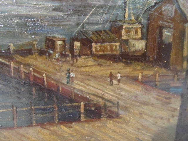 C. C. COOPER - New York City from the Dock - Oil on panel - Image 9 of 9