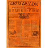 JOSE GUADALUPE POSADA - Gaceta Callejera [1894] - Relief engraving