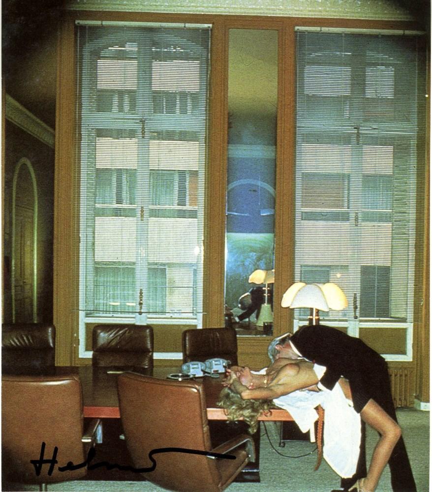 HELMUT NEWTON - Office Love, Paris - Original vintage color photolithograph