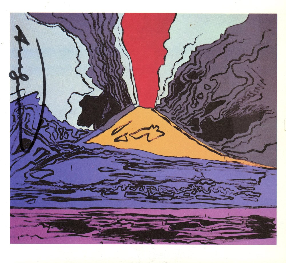ANDY WARHOL - Vesuvius #02 - Color offset lithograph