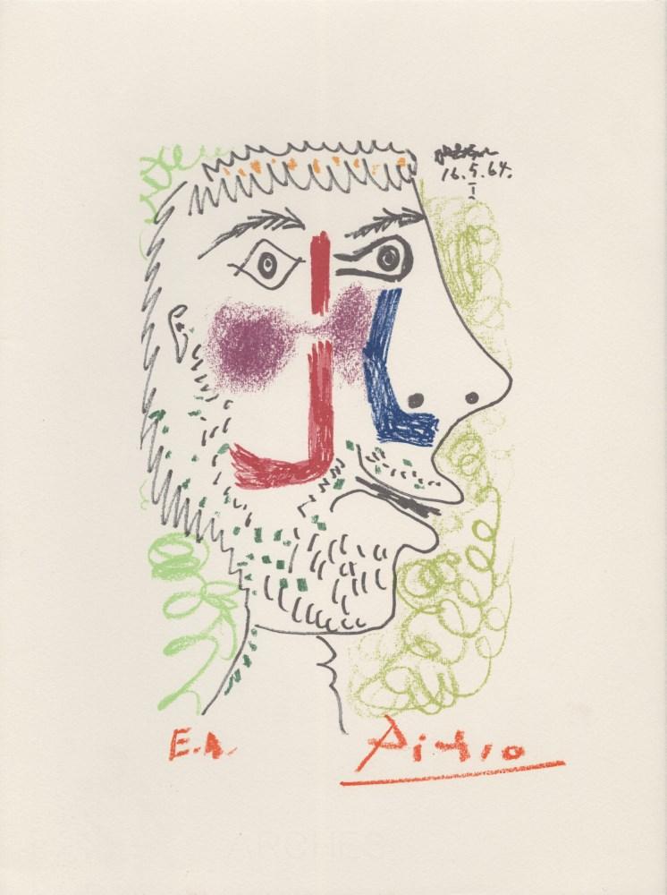 PABLO PICASSO [d'apres] - May 16, 1964 #1 - Original color silkscreen & lithograph