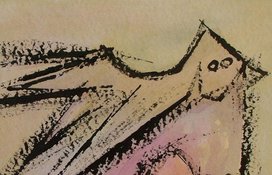 WIFREDO LAM - El Par - Gouache on paper - Image 5 of 6
