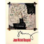 JEAN-MICHEL BASQUIAT - Future Sciences Versus the Man - Color offset lithograph