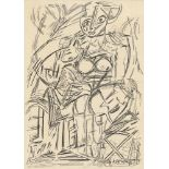WILLEM DE KOONING - Study of a Woman - Pen and ink drawing on paper