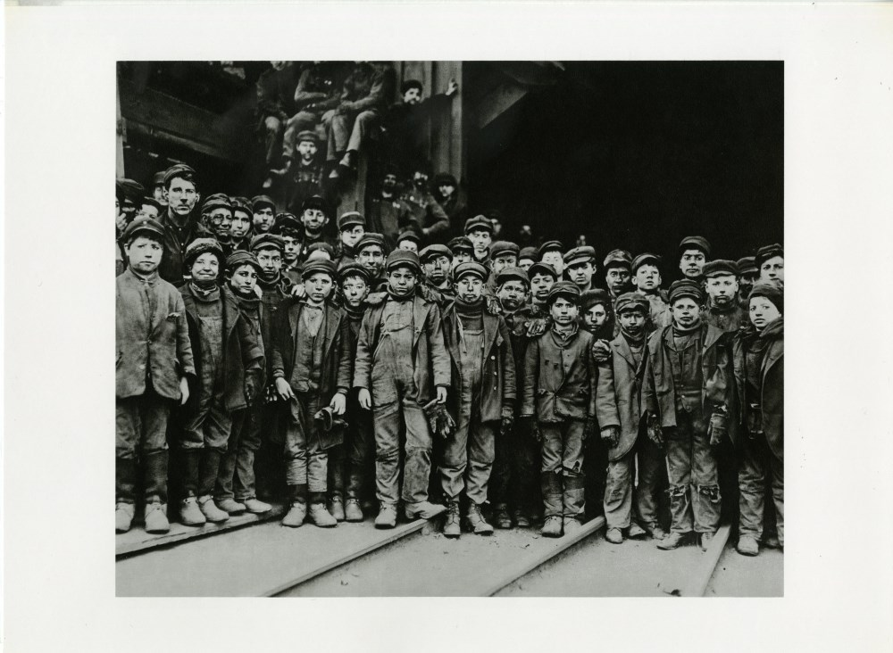 LEWIS HINE - A Group of the Youngest Coal Breaker Boys in a Pennsylvania Coal Mine, South Pittsto...