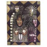 KARIMA MUYAES - Orishas - Color etching with sugarlift aquatint, on a zinc plate à la poupée