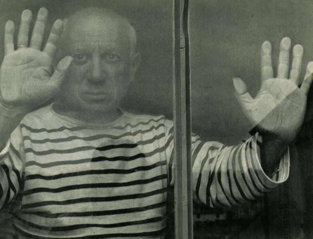 ROBERT DOISNEAU - Picasso a Vallauris, 1952 - Original vintage photogravure