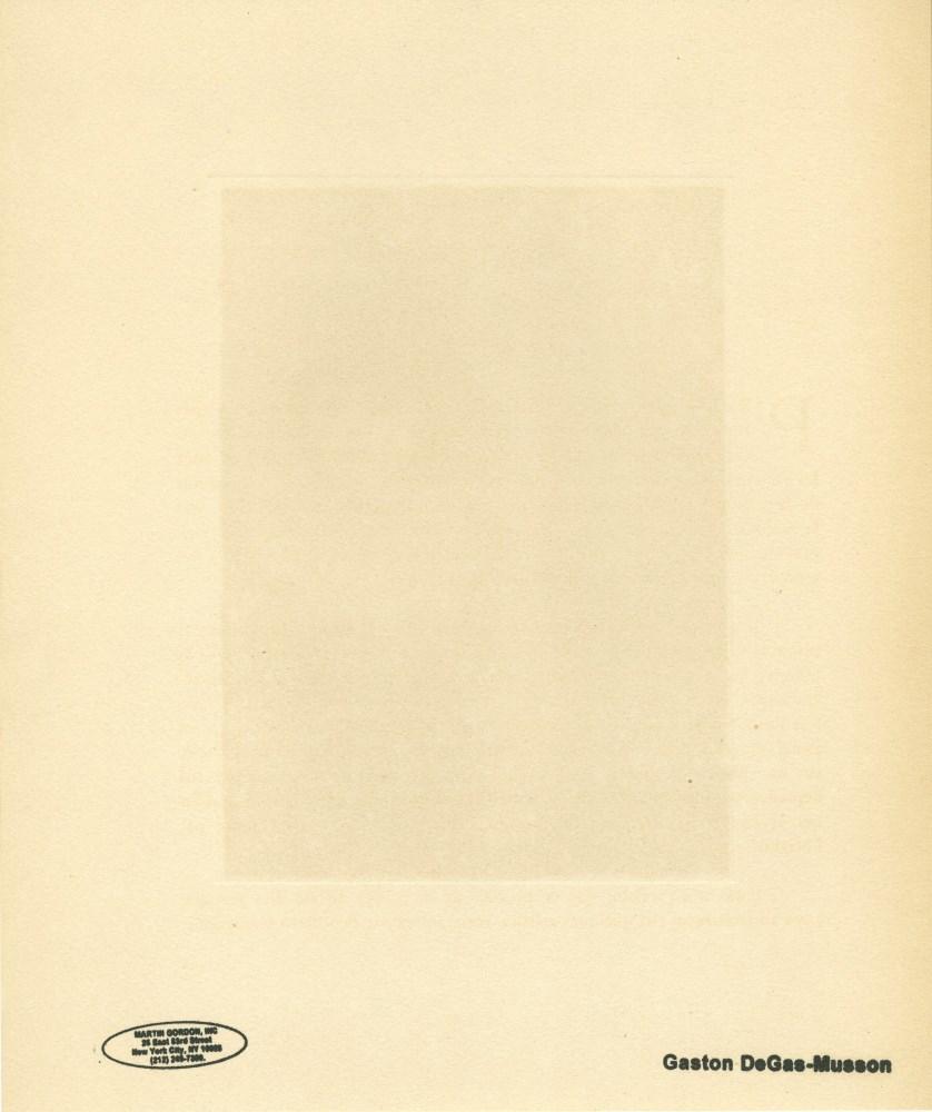 EDGAR DEGAS - Pianiste et le chanteur - Original color gravure with pochoir, after the monotype - Image 2 of 2