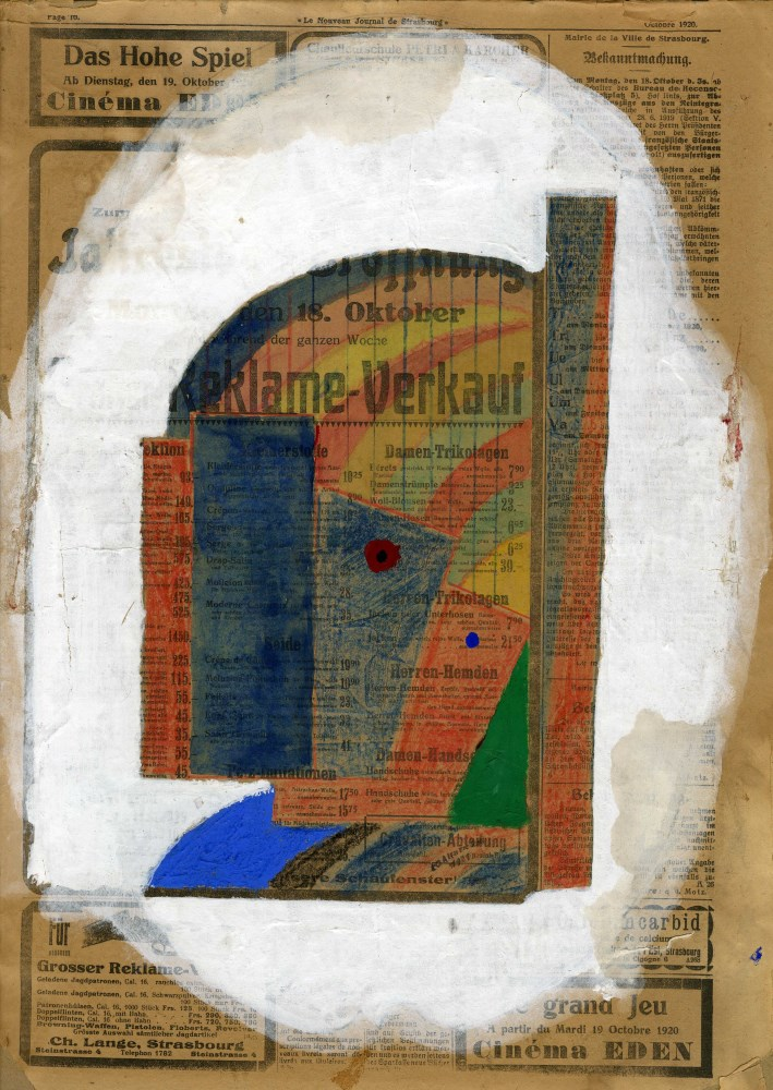 YURI PAVLOVICH ANNENKOV - Constructivist Composition - Mixed Media on paper, mounted on board