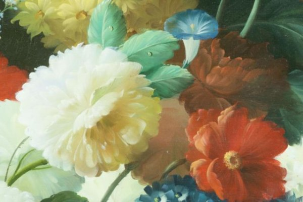 THOMAS A. LEE - Floral Still Life - Oil on canvas - Image 8 of 10