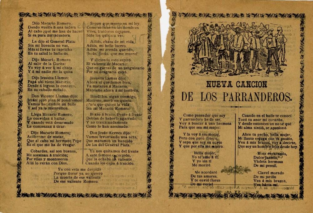 JOSE GUADALUPE POSADA - Verdaderos Versos de Macario Romero - Relief engraving - Image 2 of 2