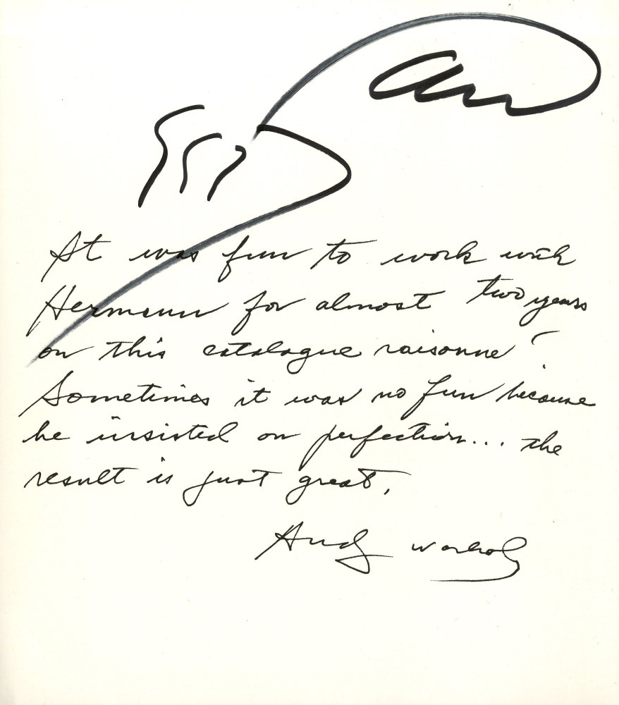 ANDY WARHOL - Warhol/Wunsche #1 - Autograph - initials on paper