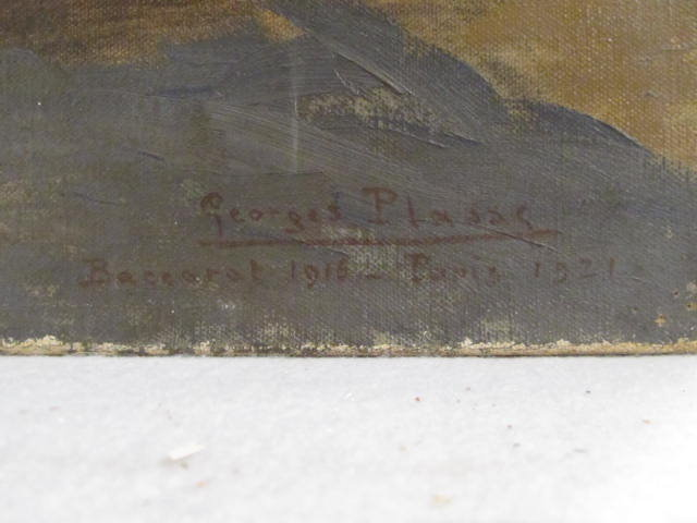 GEORGES PLASSE - Eglise au Baccarat - Oil on canvas - Image 2 of 6