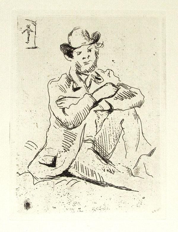 PAUL CEZANNE - Guillaumin au Pendu - Etching