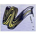 ROY LICHTENSTEIN - Brushstroke - Original color silkscreen