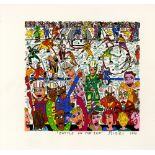 JAMES RIZZI - Battle on the Ice - Color silkscreen and lithograph