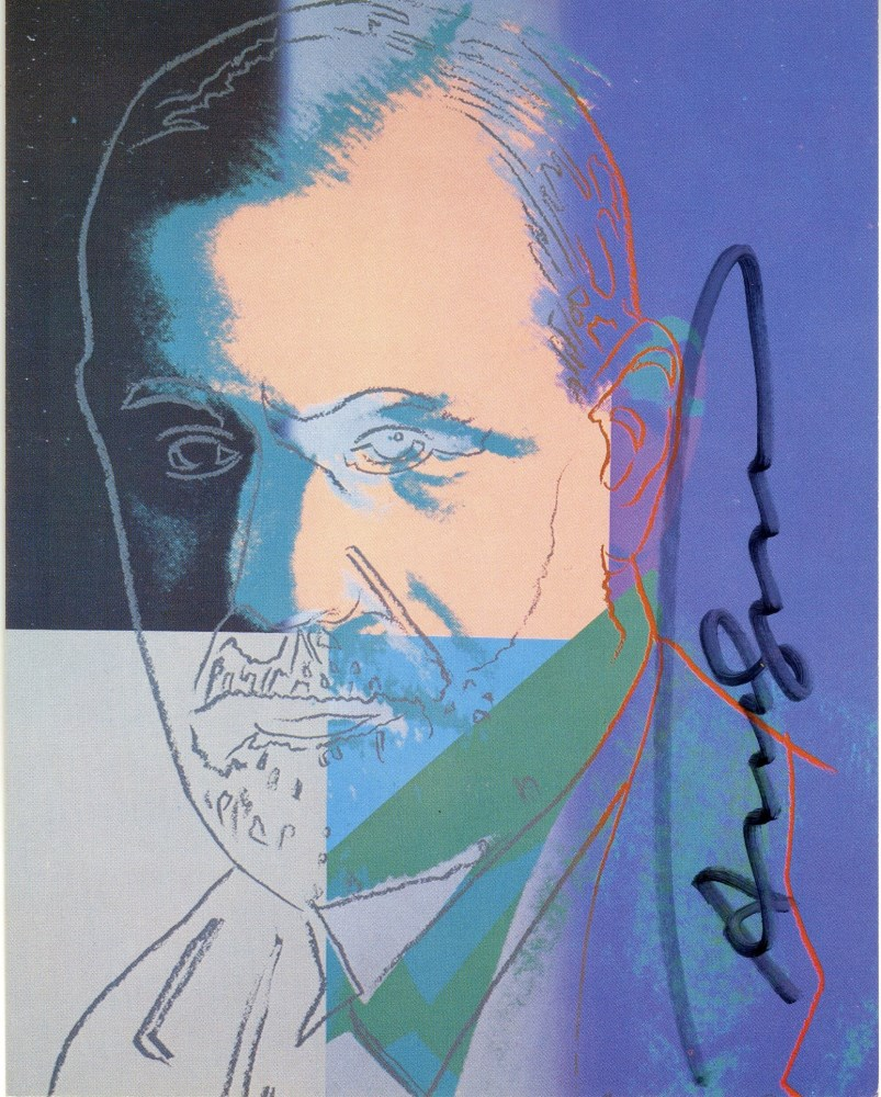 ANDY WARHOL - Sigmund Freud - Color offset lithograph