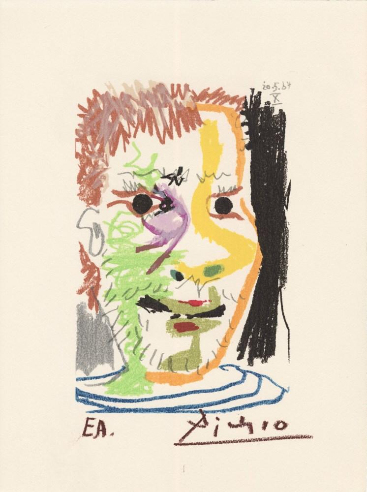 PABLO PICASSO [d'apres] - May 20, 1964 #10 - Original color silkscreen & lithograph