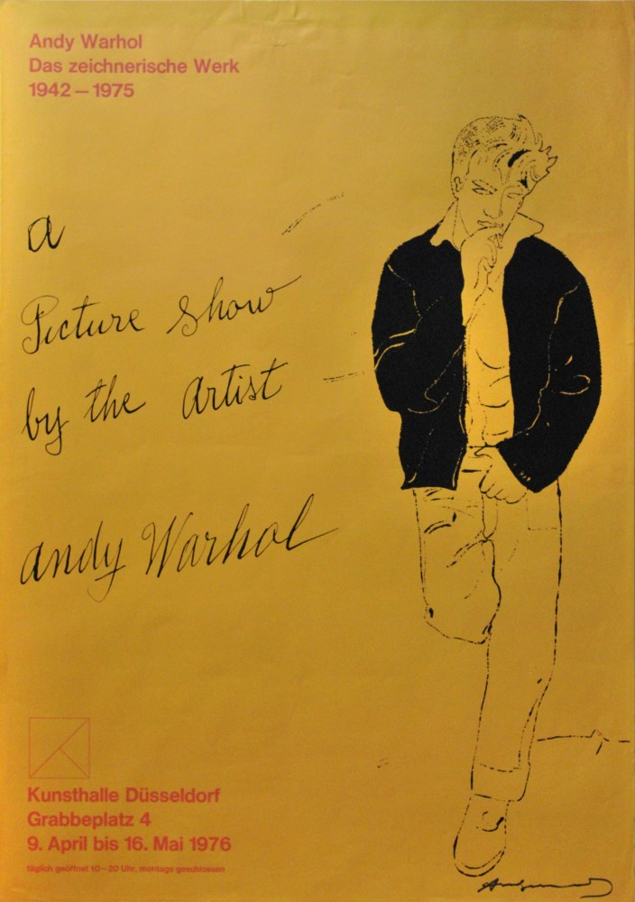 ANDY WARHOL - A Picture Show by the Artist - Original color offset lithograph