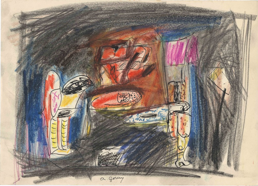 ARSHILE GORKY - Composition - Mixed media on paper