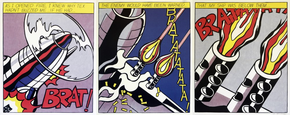 ROY LICHTENSTEIN - As I Opened Fire [lifetime impressions] - Original color offset lithograph [3 ... - Image 4 of 10