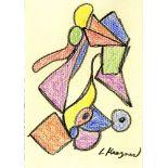 LEE KRASNER - Composition - Conte crayon on paper