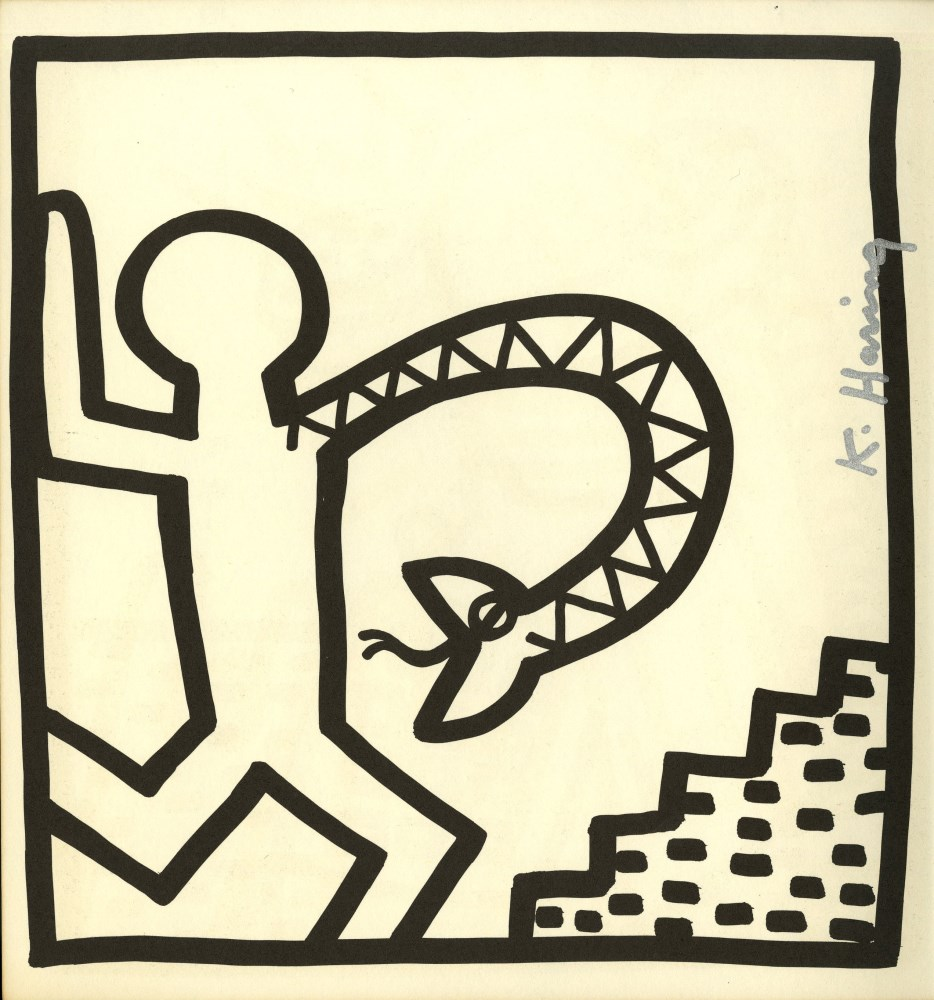 KEITH HARING - Snake Arm - Lithograph