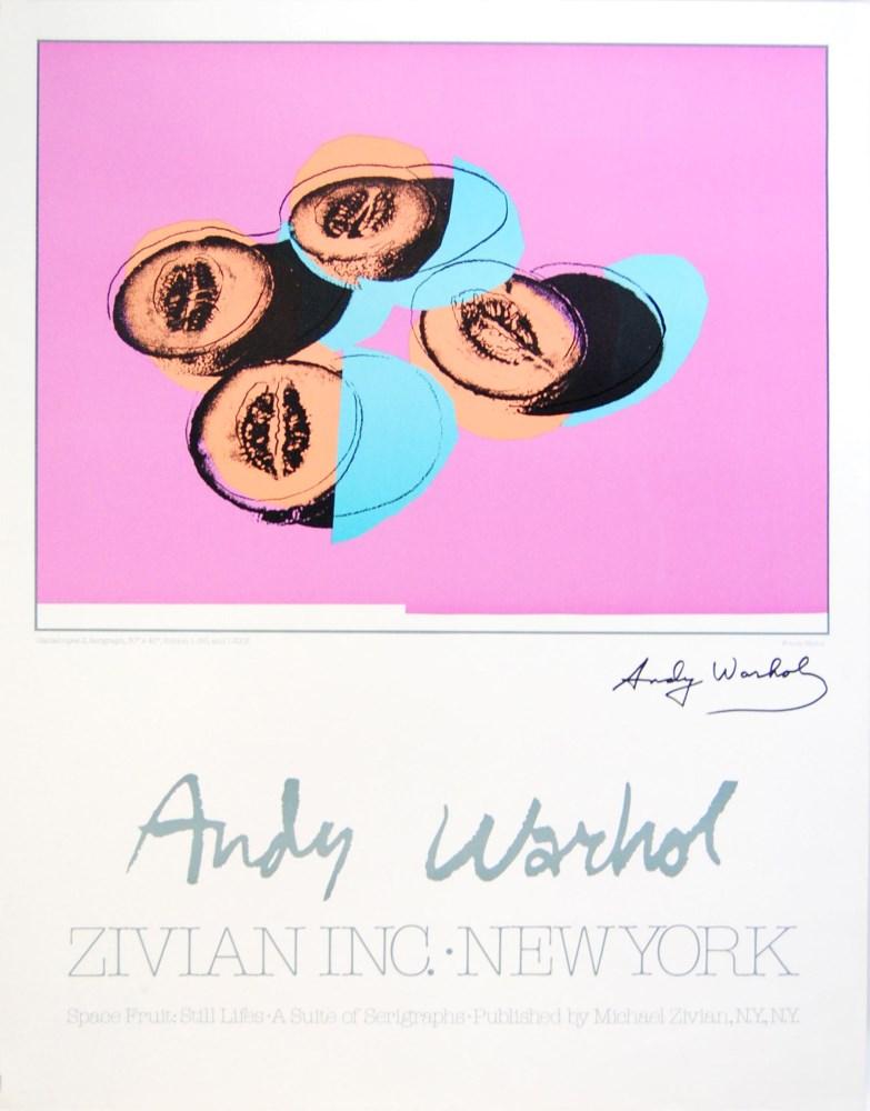 ANDY WARHOL - Cantaloupes II - Original color offset lithograph