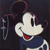 ANDY WARHOL - Mickey Mouse - Color offset lithograph