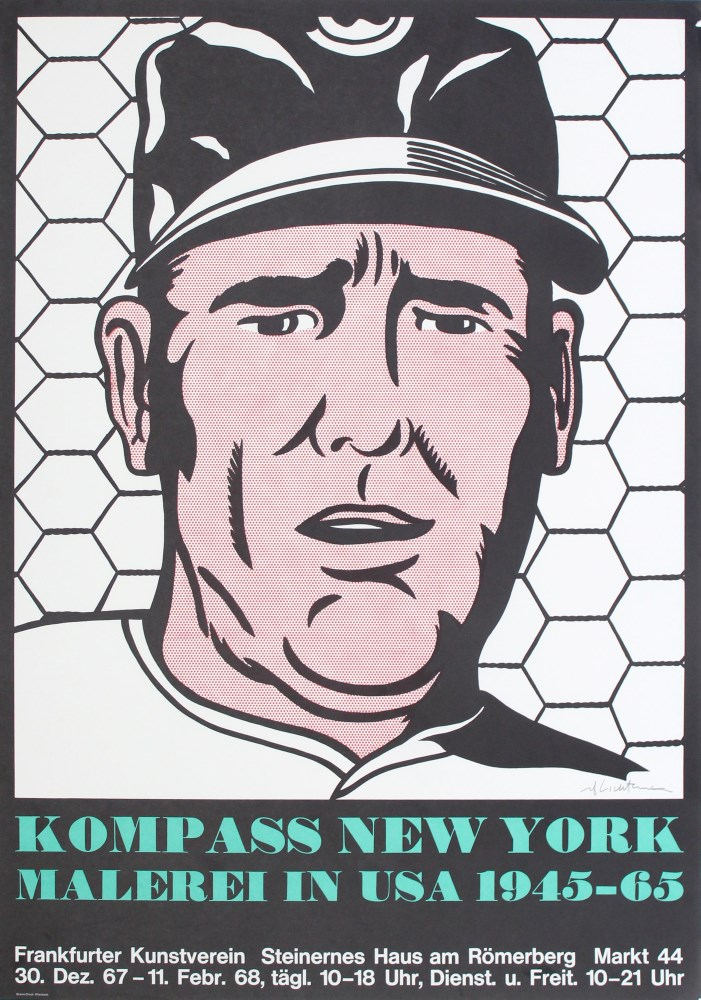 ROY LICHTENSTEIN - Baseball Manager - Color lithograph