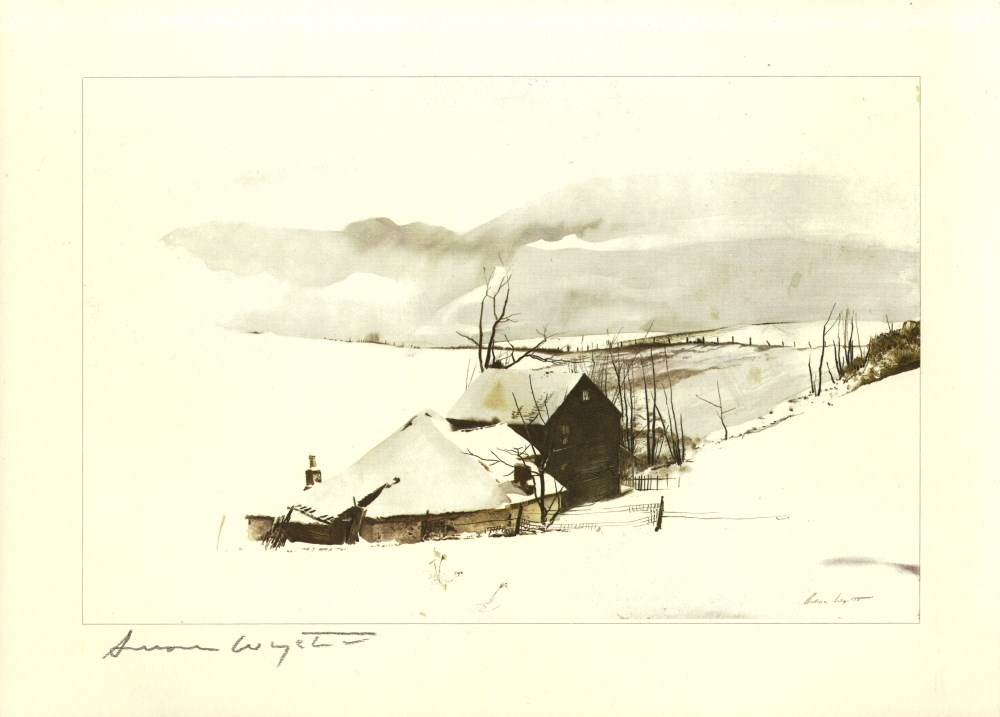 ANDREW WYETH - The Corner - Color offset lithograph