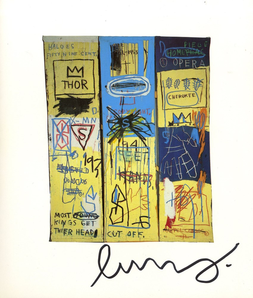 JEAN-MICHEL BASQUIAT - Charles the First - Color offset lithograph