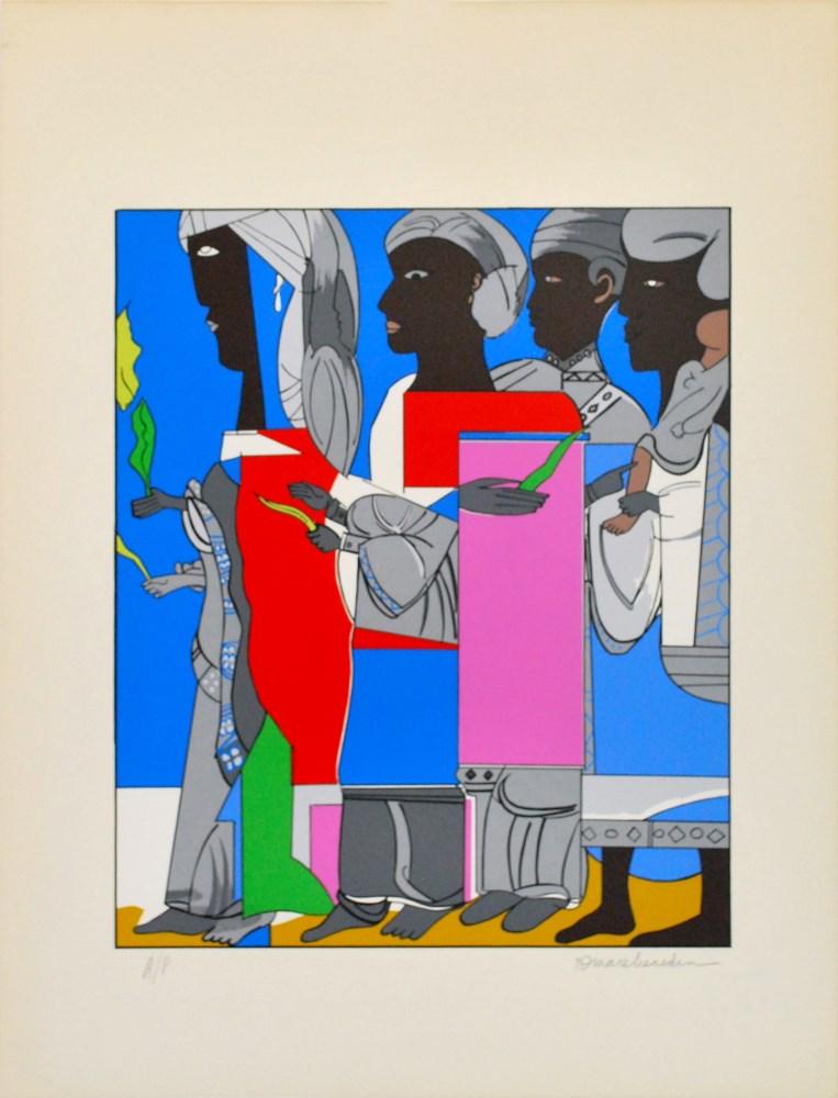 ROMARE BEARDEN - Easter Procession - Color silkscreen