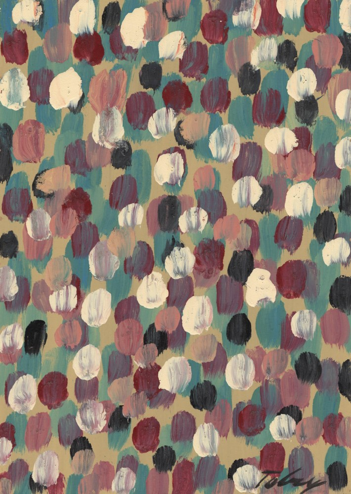 MARK TOBEY - Raindrop Prism #2 - Oil and tempera on board