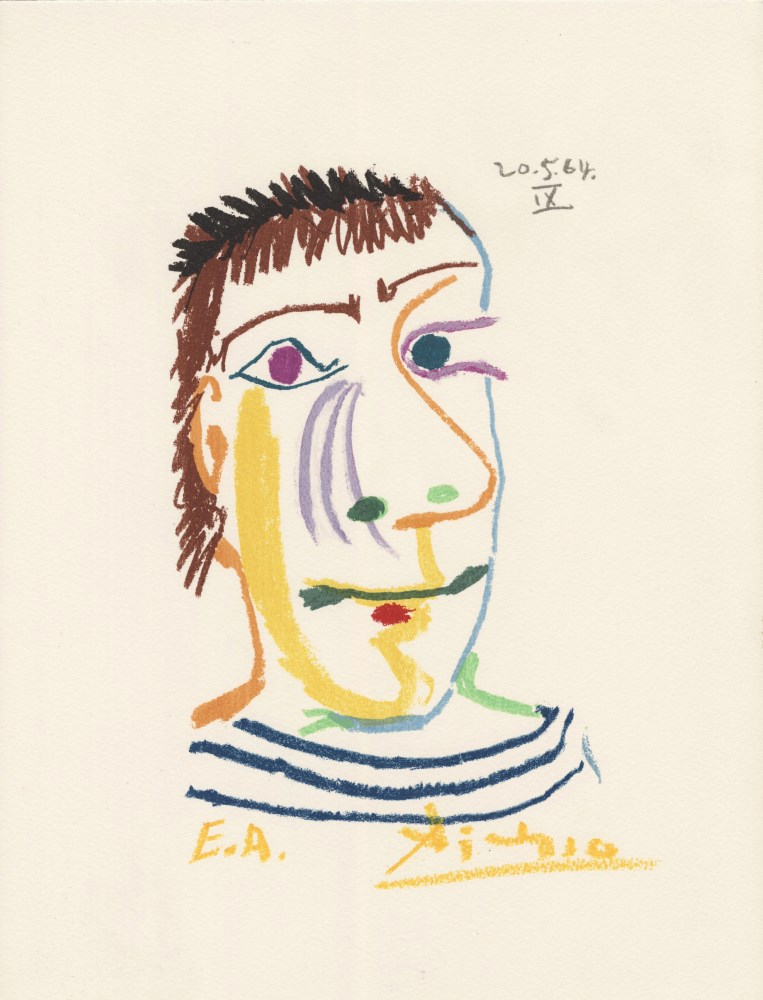 PABLO PICASSO [d'apres] - May 20, 1964 #09 - Original color silkscreen & lithograph