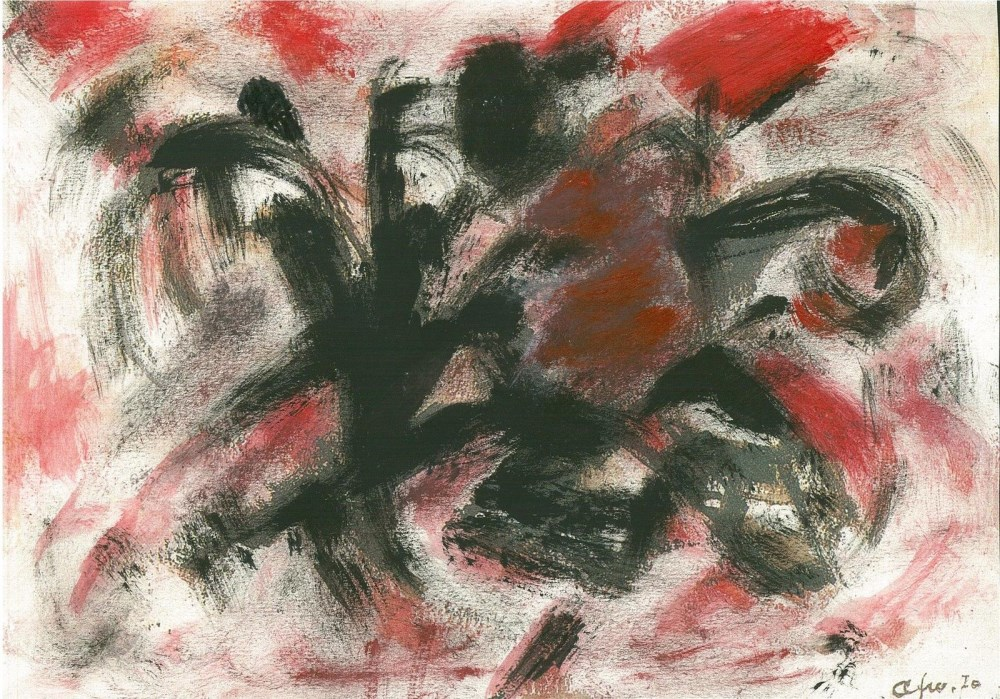 AFRO [afro basaldella] - Untitled - Acrylic and watercolor on paper