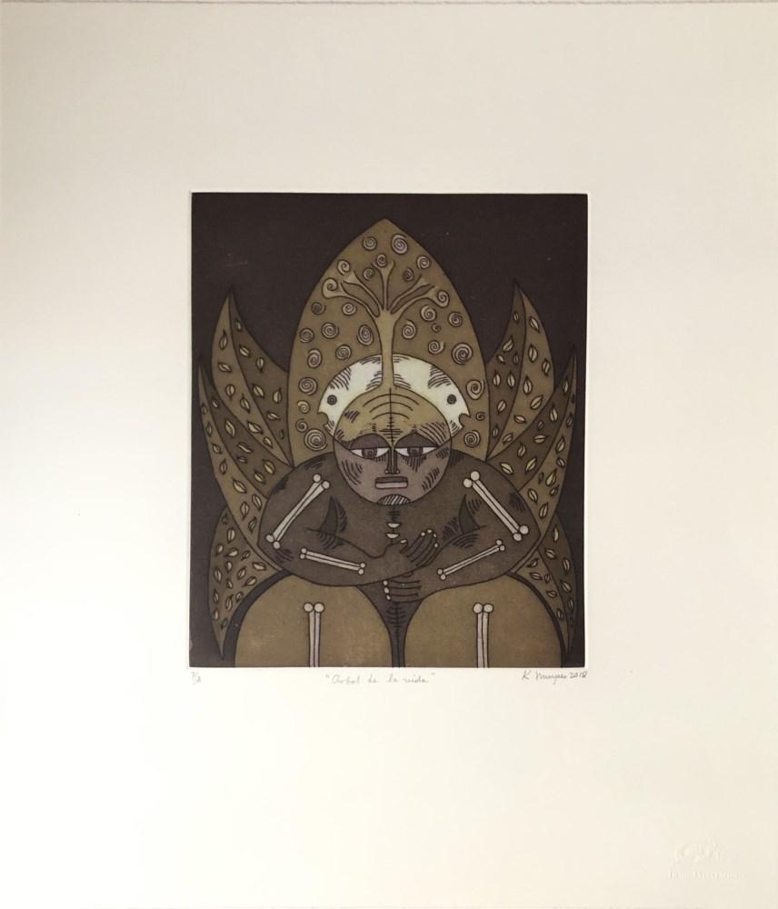 KARIMA MUYAES - Arbol de la Vida - Color etching and aquatint